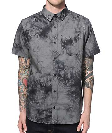 Empyre Diver Charcoal Wash Button Up Shirt