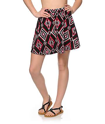 Empyre Dixie Blackberry Tribal Skater Skirt
