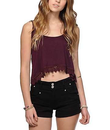 Empyre Donato Blackberry Crop Tank Top