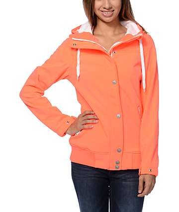 Empyre Dovey Bittersweet Neon Orange Softshell Jacket