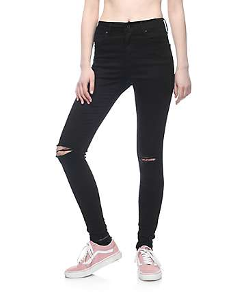 Empyre Drea High-Rise Ripped Black Jeggings