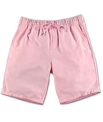 Empyre Dubtub Light Pink Elastic Waist Board Shorts
