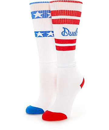 Empyre Dude Red, White & Blue Women's Boot Socks