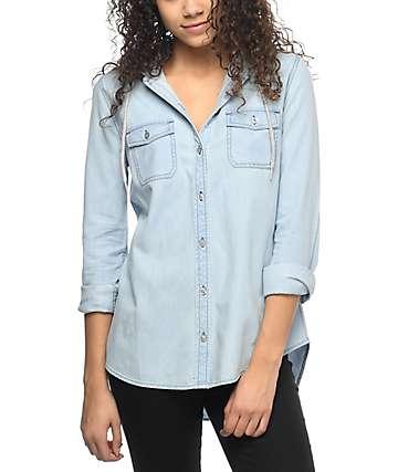 Empyre Eddy camisa azul con capucha