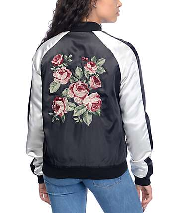 Empyre Edie Black & White Rose Souvenir Jacket