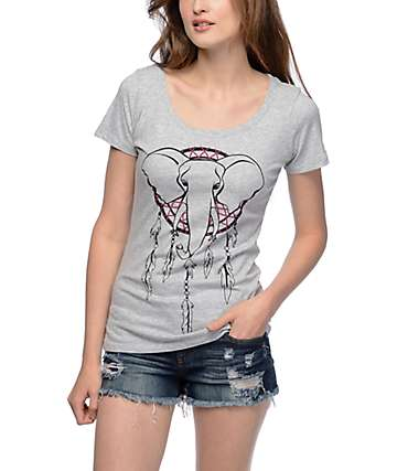 Empyre Elephant Dream Grey Scoop T-Shirt