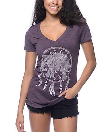 Empyre Elephant Dreamcatcher Deep V Blackberry T-Shirt