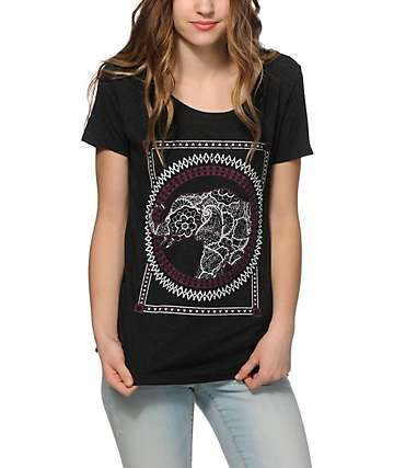 Empyre Elephant Lace Scoop Neck T-Shirt