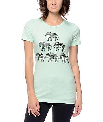 Empyre Elephant Pyramid Mint Crew T-Shirt