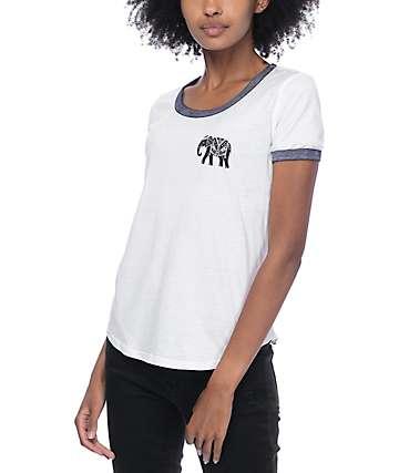 Empyre Elephant Walk Ringer White T-Shirt