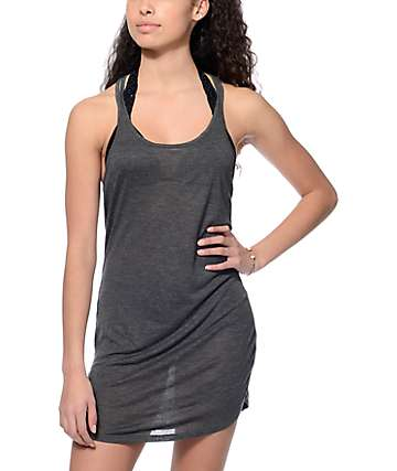 Empyre Elliot Charcoal Ladder Back Dress