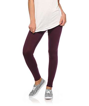 Empyre Emma Blackberry Zipper Bottom Leggings