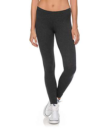 Empyre Emma Charcoal Zipper Bottom Leggings
