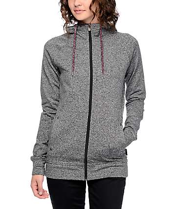 Empyre Emory Grey Speckle Zip Up Tech Fleece Jacket