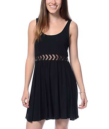Empyre Estella Insert Black Knit Dress