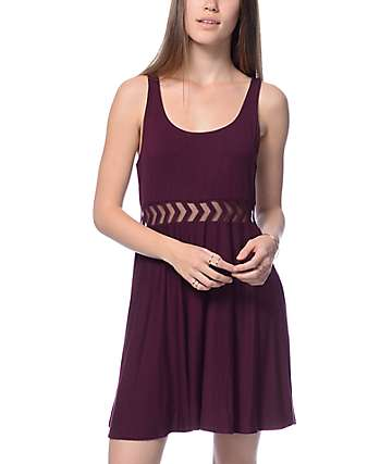 Empyre Estella Insert Blackberry Knit Dress