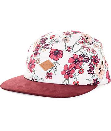 Empyre Evie Natural & Burgundy 5-Panel Hat
