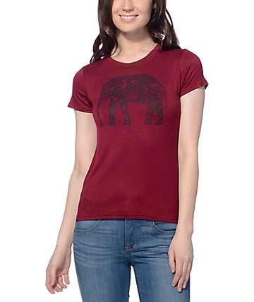 Empyre Ezra Elephant Burgundy Baby T-Shirt