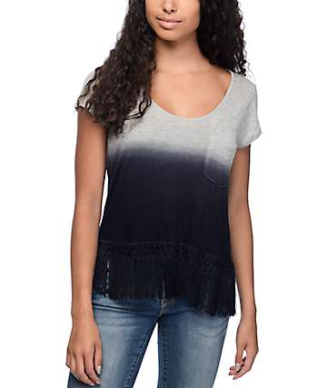 Empyre Fakie Ombre Fringe Crop Top