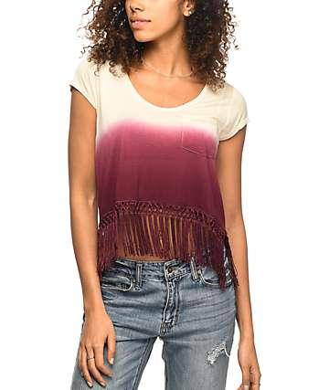 Empyre Fakie camiseta corta en color vino