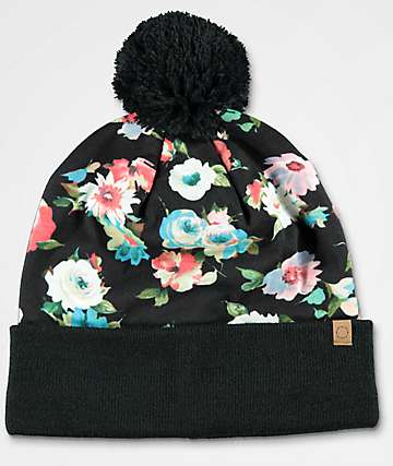 Empyre Faye Floral Pom Beanie
