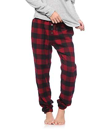 Empyre Fern Blackberry Lounge Flannel Pants