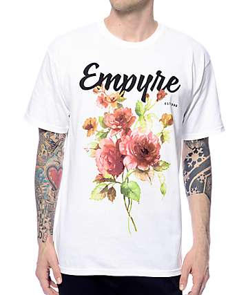 Empyre Floral Rose camiseta blanca