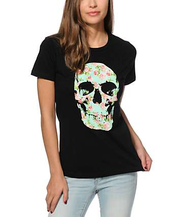Empyre Floral Skull T-Shirt
