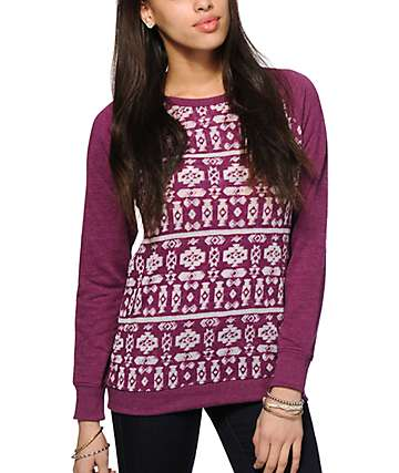 Empyre Frankie Burnout Tribal Crew Neck Sweatshirt