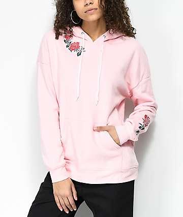 Empyre Fredia Roses Pink Hoodie