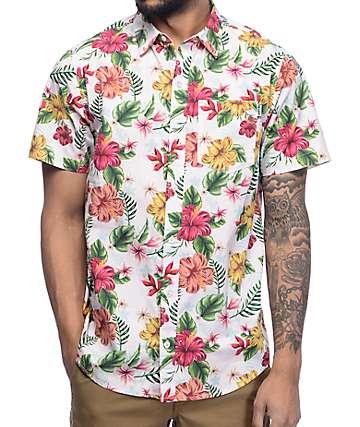 Empyre Fredrico Pink Tropical Woven Shirt