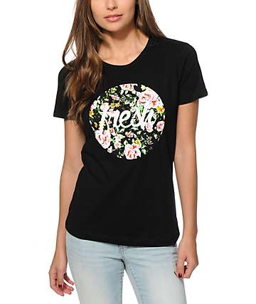 Empyre Fresh Floral Black T-Shirt