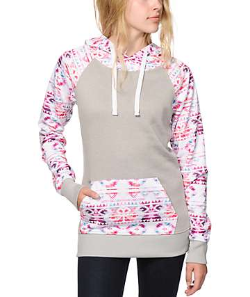 Empyre Frosty Watercolor Tribal Tech Fleece Hoodie