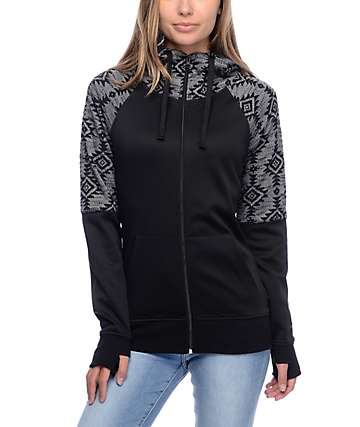 Empyre Gemini Black & Grey Tribal Sweater Tech Fleece Jacket