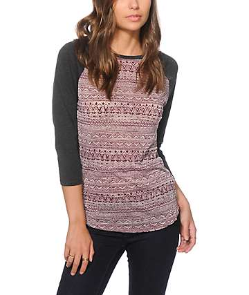 Empyre Genee Fig Tribal Burnout Baseball Tee