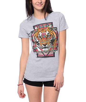 Empyre Geo Tiger Grey T-Shirt