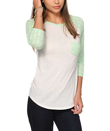 Empyre Georgina Mint Arrowhead Baseball Tee