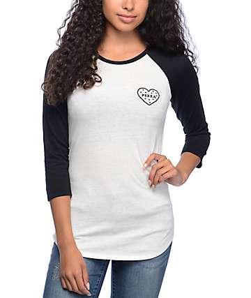 Empyre Georgina Pizza camiseta béisbol en negro y color crema