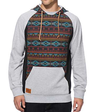 Empyre Get Smart Tribal Mesh Hooded Shirt