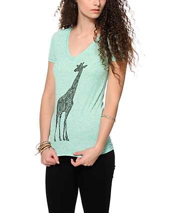Empyre Giraffe Ink V-Neck Tee