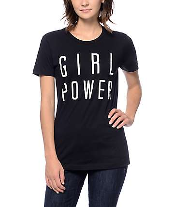 Empyre Girl Power Boyfriend Black T-Shirt