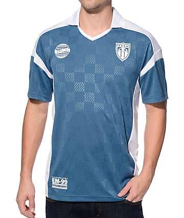 Empyre Goalie jersey de fútbol en blanco y azul