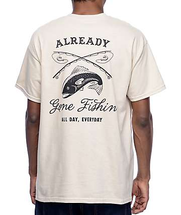 Empyre Gone Fishin Sand T-Shirt