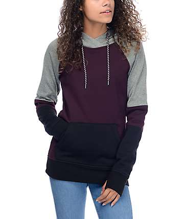 Empyre Grandridge Blackberry & Heather Grey Tech Fleece Hoodie