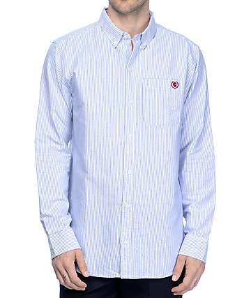 Empyre Gregory Blue & White Striped Long Sleeve Shirt