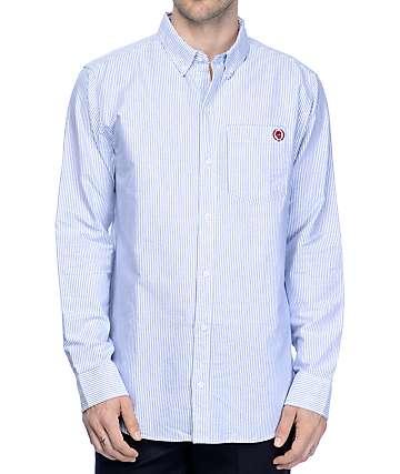 Empyre Gregory camisa rayada en azul y blanco