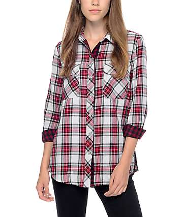 Empyre Hadley Double Weave Red Plaid Shirt