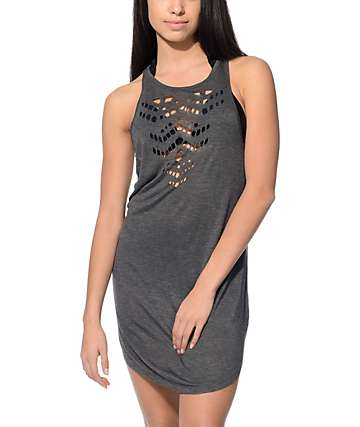 Empyre Haley Grey Laser Cut Out Tank Dress