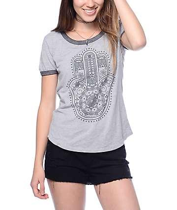 Empyre Hamsa Hand Ringer T-Shirt