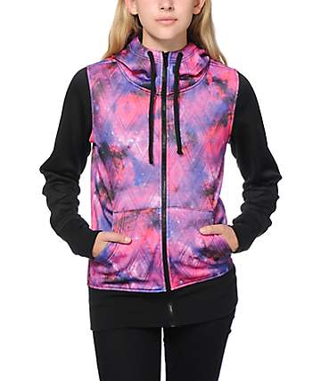 Empyre Hayden Pink Galaxy Tech Fleece Jacket